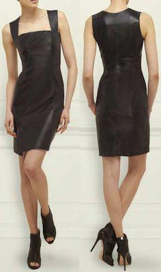LK Bennett Letta Leather Dress