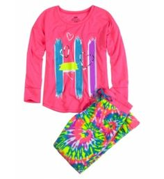 Justice Clothes for Girls Outlet   Girls Clothes   DS 2PC HI/BYE TIE DYE   Shop Justice