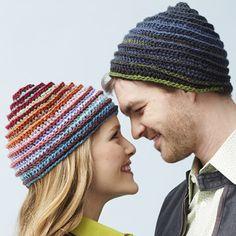 Free Crochet Bernat Mosaic - Spiral Hat Pattern