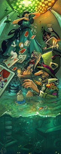 the allegory in alice in wonderland The psychoanalytic approach psychoanalyzing alice: sexual symbolism through her experiences in wonderland, alice gradually gains empowering insight and self.