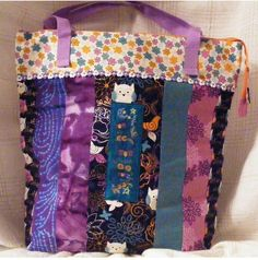 Very Large Tote Bag..Owls and Flowers by MASBags, $35.00 USD