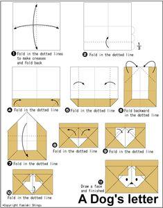 Origami Dog's letter