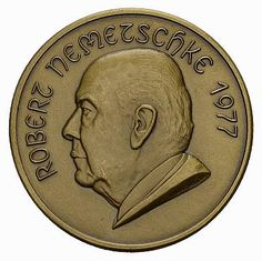 Nemetschke, Robert (1907-1981), collector from Wien of Roman imperial coins; medal 1977 (see also MöNG 1981 6 79)