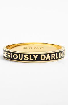 Seriously darling.