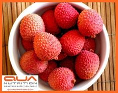 LOVING THE LYCHEES!  * Besides being sweet and nutritious, the berries have a cooling effect on the human body.  * Contains 71.5 mg of Vit C for every 100g pulp which is 100% DV of Vit C needed. Vit C is a major antioxidant in the body & slows down the aging process & keep diseases such as cancer at bay.  * Contains Oligonol which is thought to have anti-oxidant & anti-influenza virus actions. It also helps improve blood flow in organs, reduce weight, and protect skin from harmful UV rays.