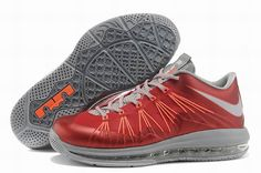 best sneakers 337a1 4e306 Authentic Sale Nike Air Max Lebron 10 Low Red Gray Orange For Wholesale