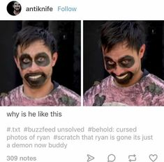 that is literally fucking terrifying ryan dear god Funny Pins, Funny Memes, Hilarious, Jokes, Funny Stuff, Buzzfeed Funny, Try Guys, Ghost Boy, Real Ghosts