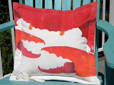 Best served cold crab indoor outdoor 20 pillow claw by crabbychris, $41.00