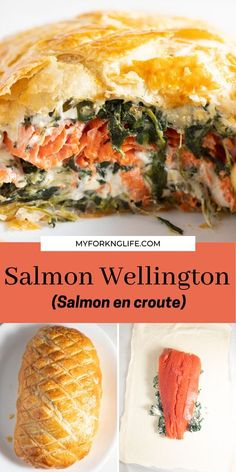 Salmon Recipes, Fish Recipes, Seafood Recipes, Cooking Recipes, Salmon Wellington Recipe, Wellington Food, Salmon Dishes, Fish Dishes, Recipes