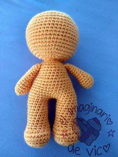 cuerpo base amigurumi en una pieza sin coser Crochet Daisy, Crochet Cactus, Cute Crochet, Crochet Toys, Crochet Bear Patterns, Crochet Doll Pattern, Baby Knitting Patterns, Doll Patterns, Pattern Ideas