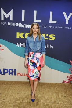 I found this skirt (kohls-milly-designation-hannah-davis-olivia-palermo) on this fashion and style blog - I already have the western demin shirt - what a great outfit idea and super cheap! http://stylebriefs.com/2015/06/04/a-dash-of-fab-fash-for-no-cash/
