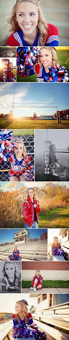 Cheerleading Senior Photo Ideas - Ashland Ohio Senior Photography - The Picture…