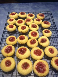 Jam Cookies and Rasperry Jam, all made in Thermomix by Sheridan Elliott. - cookies recipe here: http://www.thermomix-recipes.com/2010/09/jam-biscuits-with-thermomix.html - Jam recipe here: http://www.thermomix-recipes.com/2012/03/thermomix-raspberry-jam-recipe.html