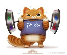 Daily Paint Hissy Fit by Cryptid-Creations on DeviantArt Animal Puns, Funny Animals, Cute Animals, Cat Exercise, Hissy Fit, Cute Fantasy Creatures, Cute Animal Drawings Kawaii, Colorful Animals, Cat Drawing