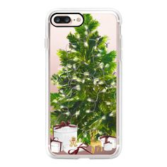 Christmas Lights - iPhone 7 Plus Case And Cover ($39) ❤ liked on Polyvore featuring accessories, tech accessories, phone, phone cases, electronics, technology, iphone case, iphone cases, apple iphone case and clear iphone case