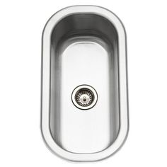 "View the Houzer CS-1105-1 18"" Undermount Single Basin Bar Sink with 5-1/2"" Depth from the Club Series at FaucetDirect.com."
