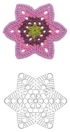 Big collection of crochet flower patterns