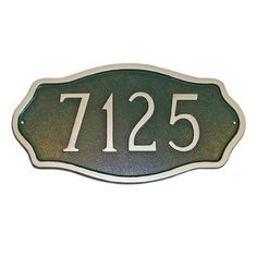 Montague Metal Products Estate Hampton Address Plaque Finish: Gray / Silver, Mounting: Lawn