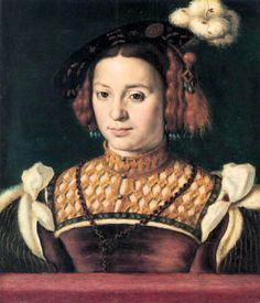Dona Ana Manrique de Lara. Between 1531 and 1536. She served as a lady in waiting for Eleonor of Austria who was queen of France. During this time three portraits were made, two chalk drawings by Jean Clouet and one painting by Corneille Lyon.