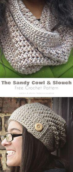 Crochet Cap, Crochet Scarves, Free Crochet, Crocheted Hats, Crochet Cowls, Crochet Ideas, Hat And Scarf Sets, Crochet Blanket Patterns, Hat Patterns