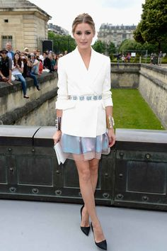 """This belt is worth """"borrowing"""" from her closet. As is this skirt that looks like liquid magic.   29 Times We Wished We Could Trade Wardrobes With Olivia Palermo"""