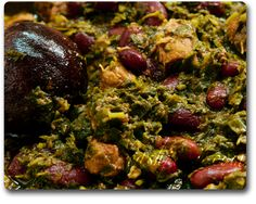 Ghormeh Sabzi is made with Lamb, although here in America everyone uses beef. (I use Lamb shoulder and lamb for stew)