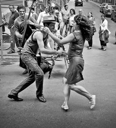The Lindy hop is an American dance that evolved in Harlem, New York City, in the 1920s and 1930s and originally evolved with the jazz music of that time.