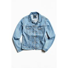 BDG Core Denim Trucker Jacket (295 SAR) ❤ liked on Polyvore featuring men's fashion, men's clothing, men's outerwear, men's jackets, jackets and mens denim jacket