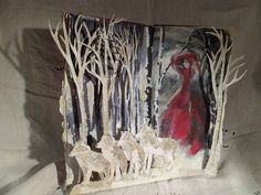 Book Assemblage  Red Riding Hood by MesssieJessie on Etsy, £72.00  Would love to do this for my book!