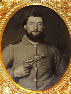 Armed Confederate, probably from a North Carolina regiment (possibly the 22nd…