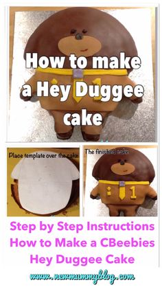 Make a Hey Duggee cake - step by step instructions first birthday cake CBeebies toddler 2nd Birthday Cake Boy, Toddler Birthday Cakes, Birthday Party Snacks, Boy Birthday Parties, Birthday Ideas, Thomas Birthday, Dog Birthday, Most Popular Birthday, Popular Birthdays
