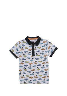 Clothing at Tesco | F&F Car Print Polo Shirt > tops > Tops & T-shirts > Kids