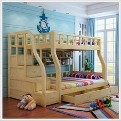 Nice Double Bunk Bed for Kids Room