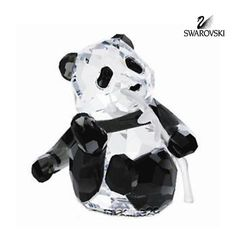"""Swarovski Crystal Figurine PANDA CUB #905543 Size: 2"""" tall In a perfect condition In original box with certificate"""