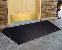 Simply place the EZ-ACCESS® Rubber Threshold ramp in front of the door to provide a smooth ground-to-sill transition. This slip-resistant ramp is designed to be used on any surface and can easily be trimmed or notched for a custom fit.