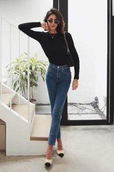 Looks de oficina para cuando se te acaban las ideas pepamack. Fashionista Trends, Style Work, My Style, Dress Outfits, Casual Outfits, Dresses, Traje A Rigor, Vans Era, Casual Chic