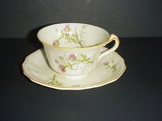Alfred Meakin Marigold Cup & Saucer Astoria Shape Pink Thistle #AlfredMeakin