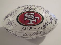 2012 San Francisco 49ers Team Signed Autographed Football Vernon Davis , Frank Gore, Alex Smith , Patrick Willis and More with Certificate of Authenticity by riddell. $399.99. this item is a new logo full size football . the item is hand signed my the players from the 2012 team . this item will come  with a Certificate of Authenticity . you will be 100% happy or your money back .