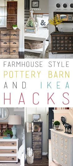 If I could pick one topic The Cottage Market Reader loves the most it would be anything Farmhouse. So today we are featuring Pottery Barn Hacks & IKEA Hacks Farmhouse Style. From Rolling Baskets to Card Catalog Creations that will amaze you and more. So sit back…relax….pour yourself a cup of your favorite brew and …