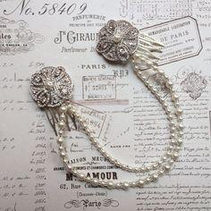 Hair chain - Bridal hair chain - bridal hair - Gatsby - 1920s - Art deco…
