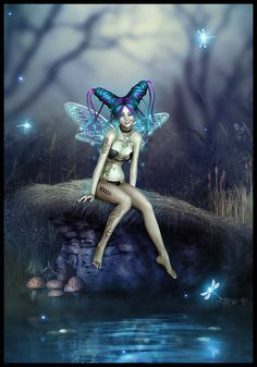 susan mckivergan twinkle fairy photoshop digital wacom poser original art painting fantasy