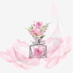 Flowers vector perfume bottle, Perfume Bottle, Flowers, Perfume Bottle PNG and Vector Perfume Logo, Perfume Packaging, Hermes Perfume, Perfume Atomizer, Perfume Bottles, Nail Logo, Best Perfume, Pink Flowers, Bouquet Flowers