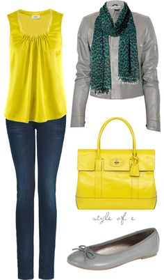 """yellow pop"" by styleofe on Polyvore"