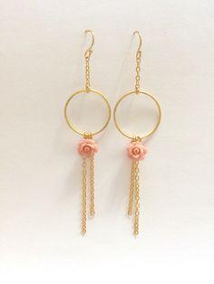 Boucles d'oreilles anneau golf filles et rose