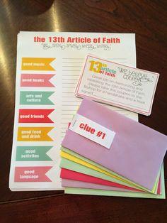 13 Article of Faith Activity