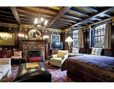 Unblvble! Studio apartment in Clarence Barron's smoking room. Barron Mansion #Boston