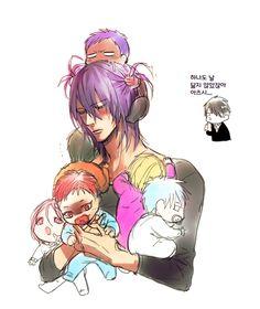 Tags: Anime, Baby, Pacifier, Kuroko không Basket, Kise Ryouta, Midorima Shintarou, Kuroko Tetsuya