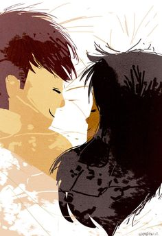 Linger by Pascal Campion ~ Interracial couple artwork Couple Illustration, Illustration Art, Interracial Art, Interacial Love, Arte Black, Pixiv Fantasia, Pascal Campion, Couple Art, Couple Things