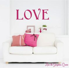 LOVE Wall Decal Sticker Valentines Day by LeenTheGraphicsQueen