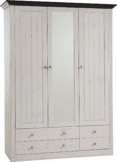 Cute Steens Monaco Glazed Door Drawer Wardobe In Whitewash